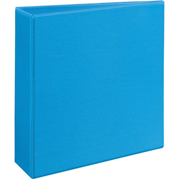 "Avery Heavy-Duty Non Stick 3-Ring View Binder, 3"" Capacity, Slant Ring, Light Blue"