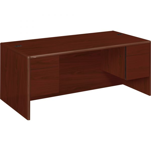 """HON 10700 Series Double Pedestal Desk   2 Box / 2 File Drawers   72""""W"""