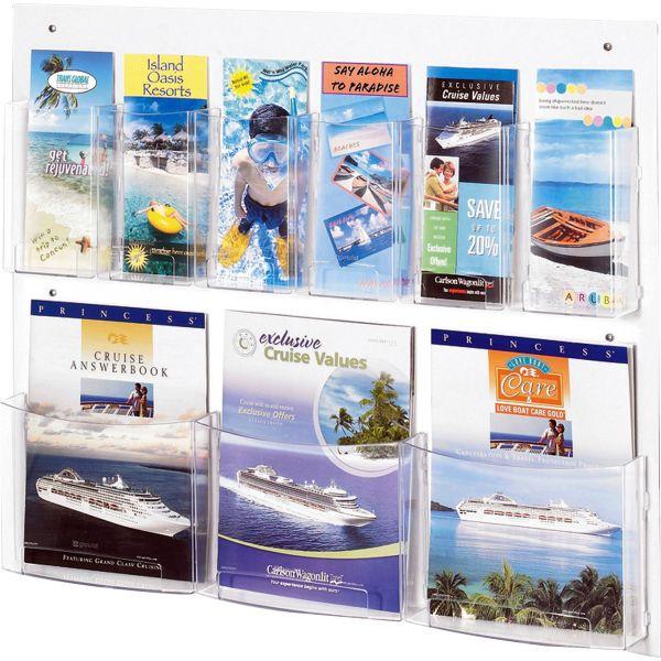 Safco 9-Pocket Magazine/Pamphlet Display Rack