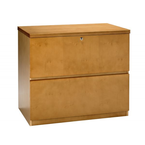 Mayline Luminary Series Wood Veneer 2-Drawer Lateral File