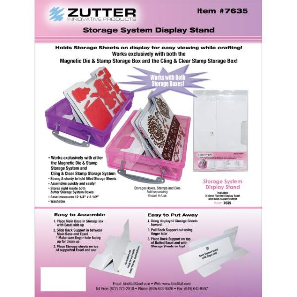 Zutter Magnetic Die & Stamp Sheet Easel Holder Display Stand