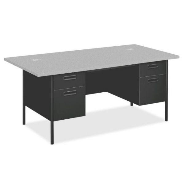 HON Metro Classic Double Pedestal Computer Desk with Overhang