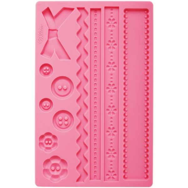 "Fondant & Gum Paste Silicone Mold 5.7""X10.6"""