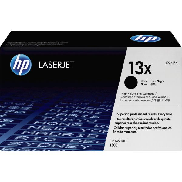 HP 13X Black High Yield Toner Cartridge (Q2613X)