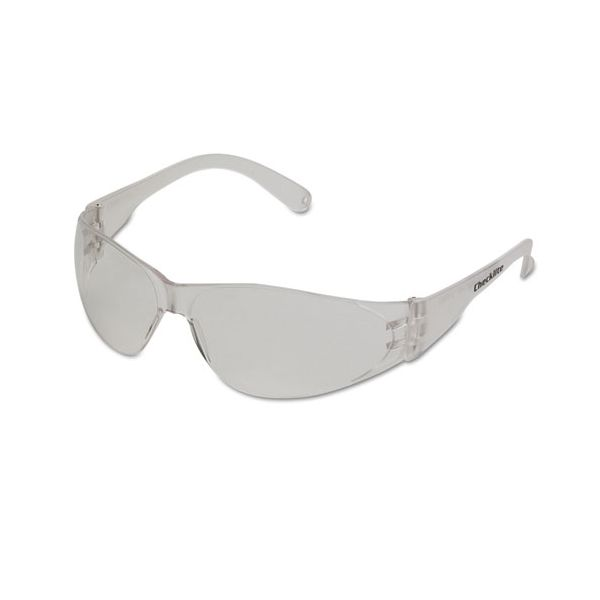 MCR Safety Checklite Safety Glasses, Clear Frame, Anti-Fog Lens