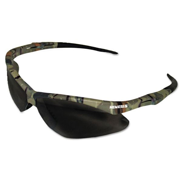 Jackson Safety* Nemesis Safety Glasses, Camo Frame, Smoke Anti-Fog Lens