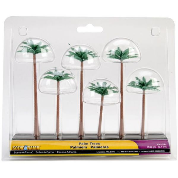 "Palm Trees 3"" To 5"" 6/Pkg"