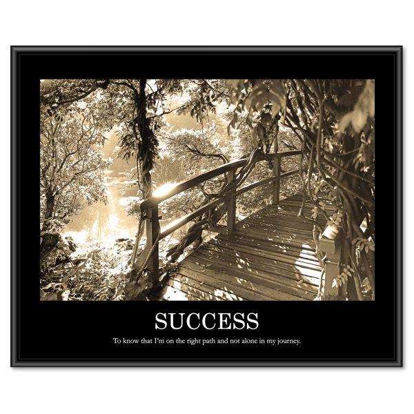"Advantus ""Success"" Framed Sepia Tone Motivational Print"