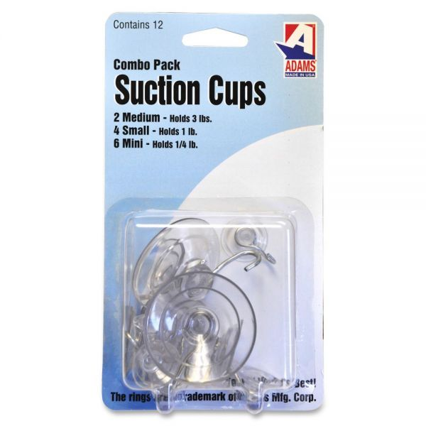 Adams Manufacturing Suction Cup Combo Pack, 12 per Pack