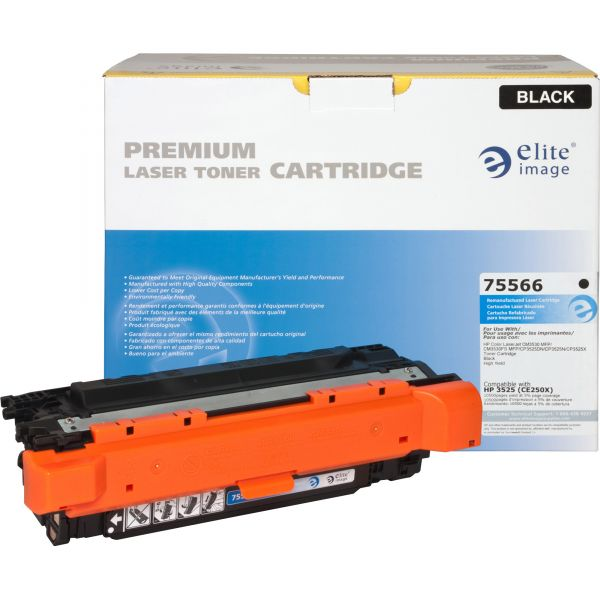 Elite Image Remanufactured HP CE250X Toner Cartridge