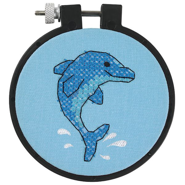Dimensions Learn-A-Craft Dolphin Delight Stamped Cross Stitch Kit