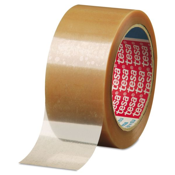 "tesa Carton Sealing Tape, 2"" x 110yd, Biaxially Oriented, Polypropylene, Clear"
