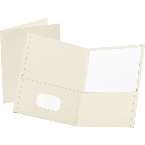 Esselte White Two Pocket Folders