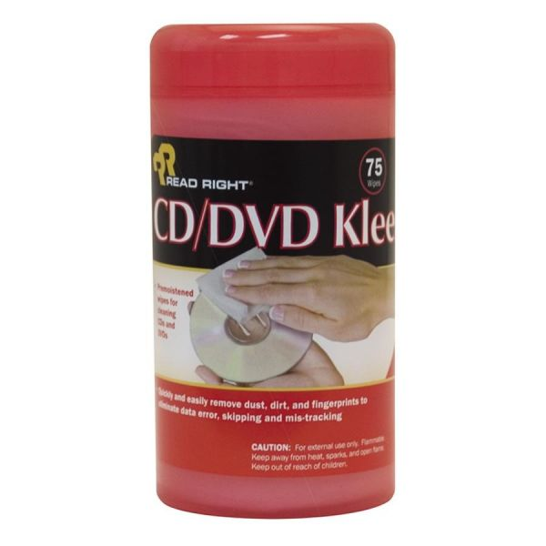 Advantus Read/Right CD/DVD Kleen Premoistened Wipes