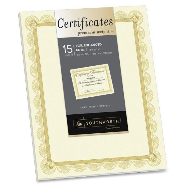 Southworth Premium Certificates