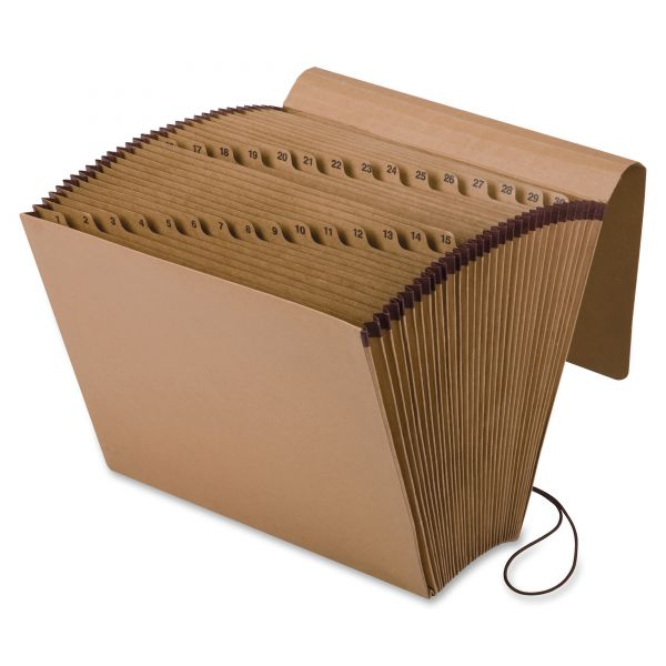 Pendaflex Kraft Indexed Expanding File, 31 Pockets, Kraft, Letter, Brown