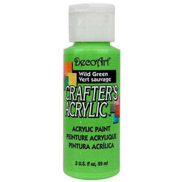 Deco Art Wild Green Crafter's Acrylic Paint