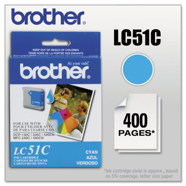 Brother LC51C Innobella Ink, Cyan