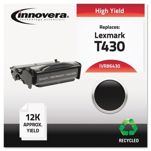 Innovera Remanufactured Lexmark T430 (12A8325) High Yield Toner Cartridge