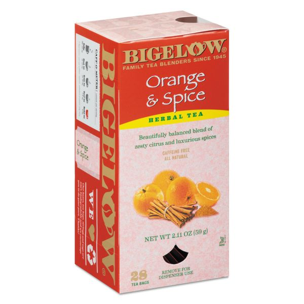 Bigelow Orange and Spice Herbal Tea, 28/Box