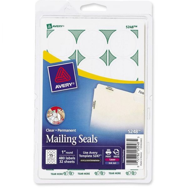Avery 5248 Permanent Clear Mailing Seals