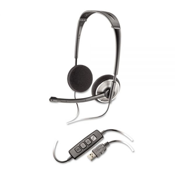 Plantronics Audio 478 Binaural Over-the-Head Corded Headset