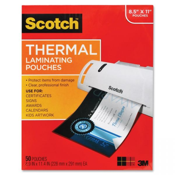 Scotch Thermal Letter Size Laminating Pouches