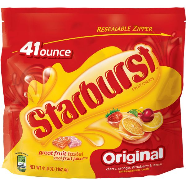 Starburst Original Fruit Chews Candy Bag, 2lbs 9oz