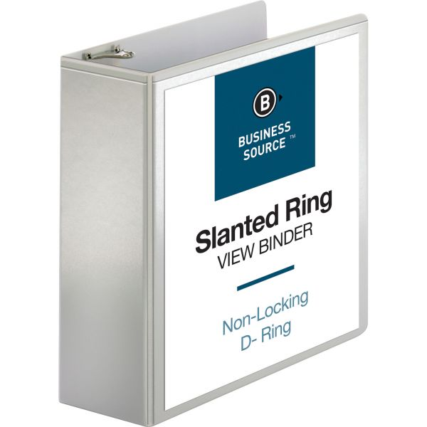 """Business Source 4"""" 3-Ring View Binder"""
