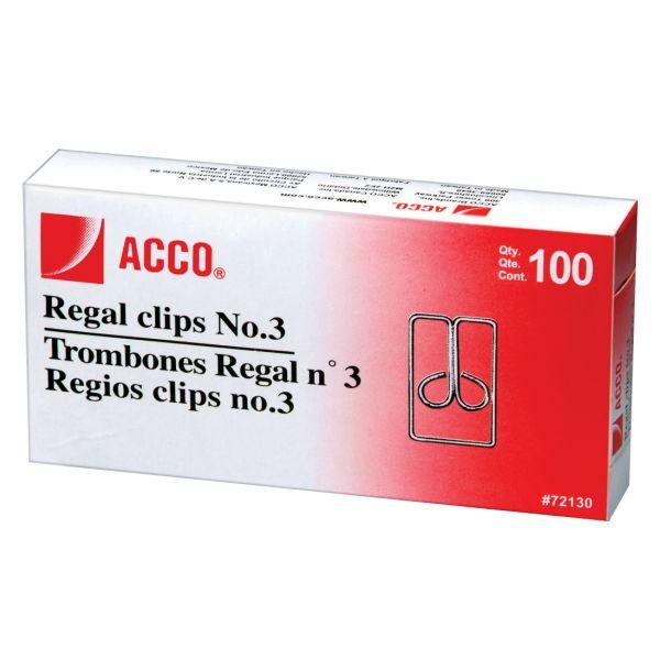 Acco #3 Regal/Owl Paper Clips