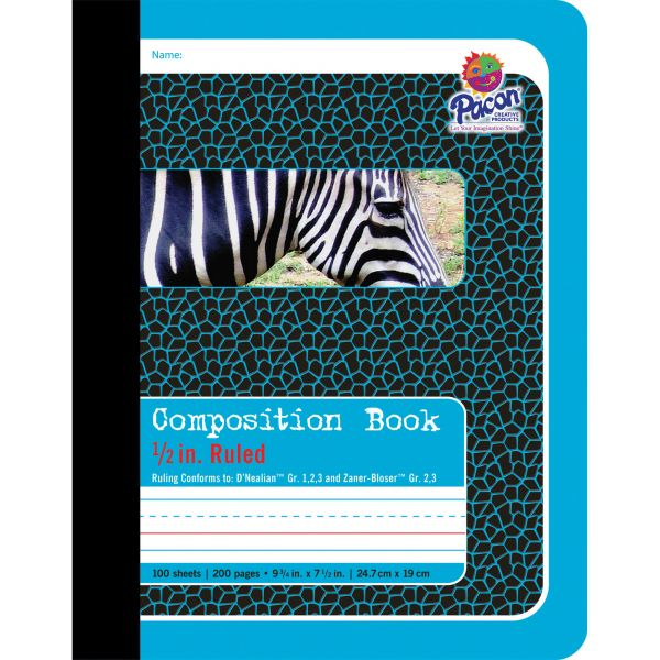 """Pacon 1/2"""" Ruled Composition Book"""