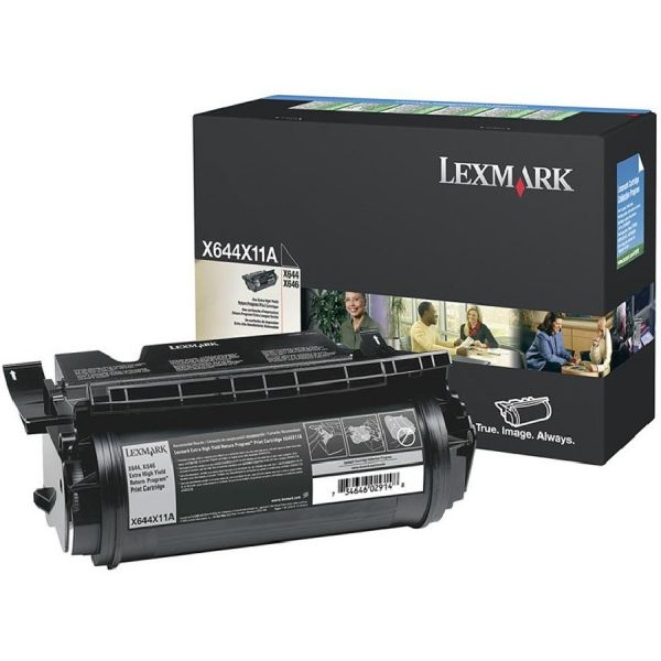 Lexmark X644X11A Extra High-Yield Toner, 32000 Page-Yield, Black