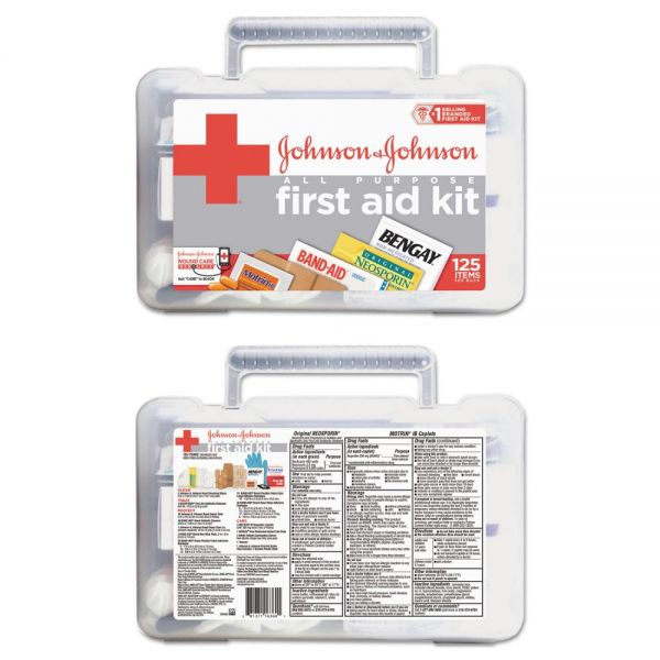 Johnson & Johnson Red Cross All-Purpose First Aid Kit, 125-Pieces, Plastic Case