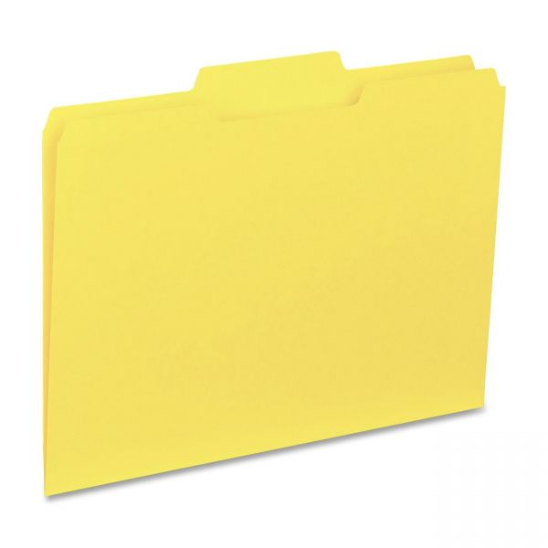Business Source Yellow Colored File Folders