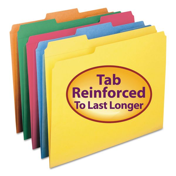 Smead Colored File Folders with Reinforced Tabs
