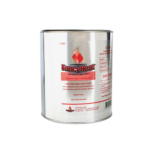 FancyHeat Ethanol Gel Chafing Fuel Refill Can, 1 Gal, Commercial Refilling Purposes Only