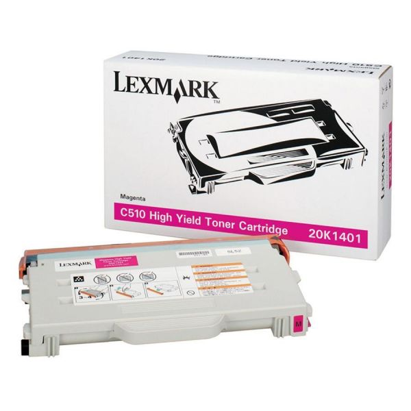 Lexmark 20K1401 Magenta High Yield Return Program Toner Cartridge