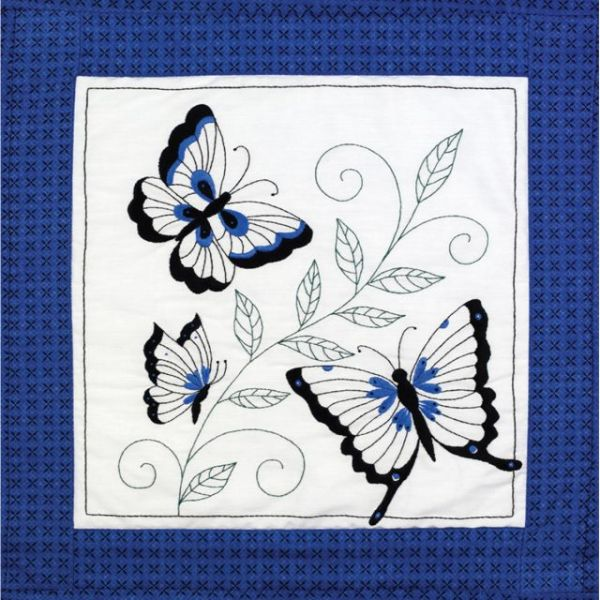 "Stamped Embroidery Quilt Blocks 18""X18"" 6/Pkg"
