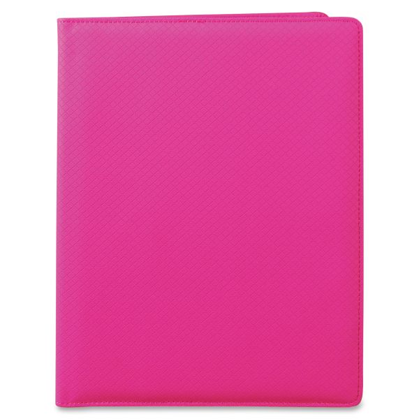 Samsill Fashion Padfolio, 8 1/2 x 11, Pink PVC