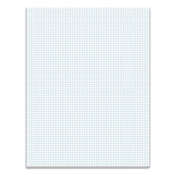 TOPS Quadrille Pads, 6 Squares/Inch, 8 1/2 x 11, White, 50 Sheets
