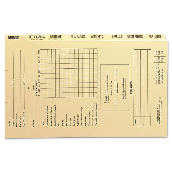 Smead Mortgage Folder Printed Replacement Divider Sets, Legal, 8/Set