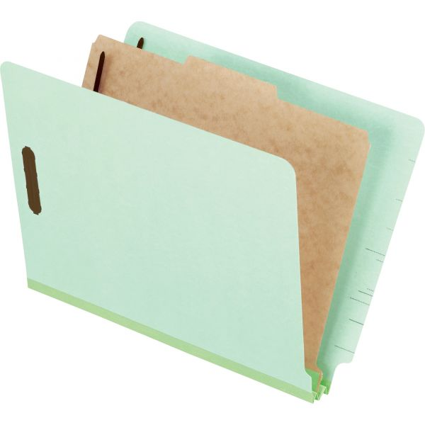 Pendaflex Pressboard End Tab Classification Folders, Letter, 1 Divider/4-Section, 10/Box