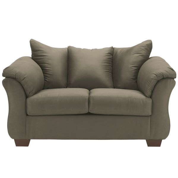Flash Furniture Signature Design by Ashley Darcy Loveseat in Sage Microfiber