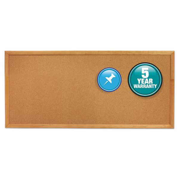 Quartet Classic Slim Line Cork Bulletin Board