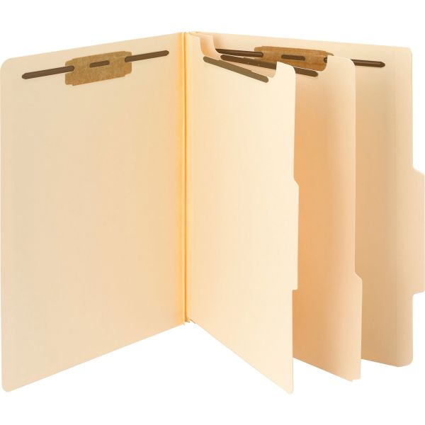 Smead Manila 2-Divider Classification Folders