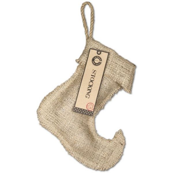 "Burlap Small Jester Stocking 8.25""X9"""