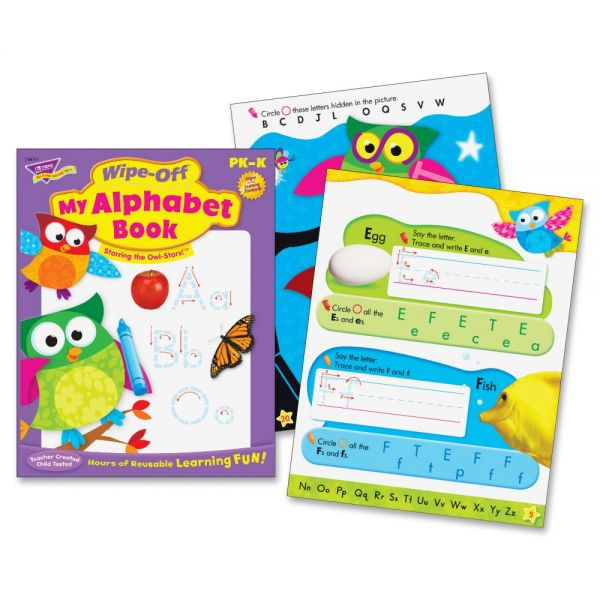 Trend My Alphabet Owl-Stars! Wipe-off Book Learning Printed Book