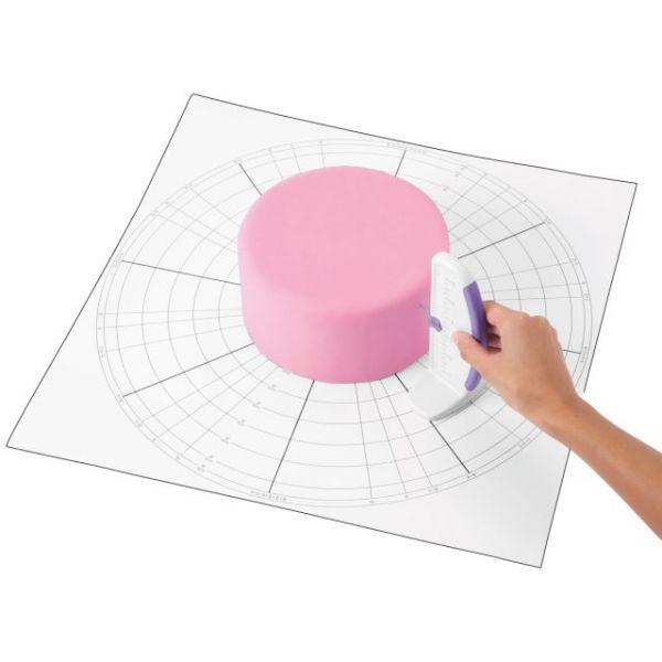 "Cake Dividing Chart 20""X20"""