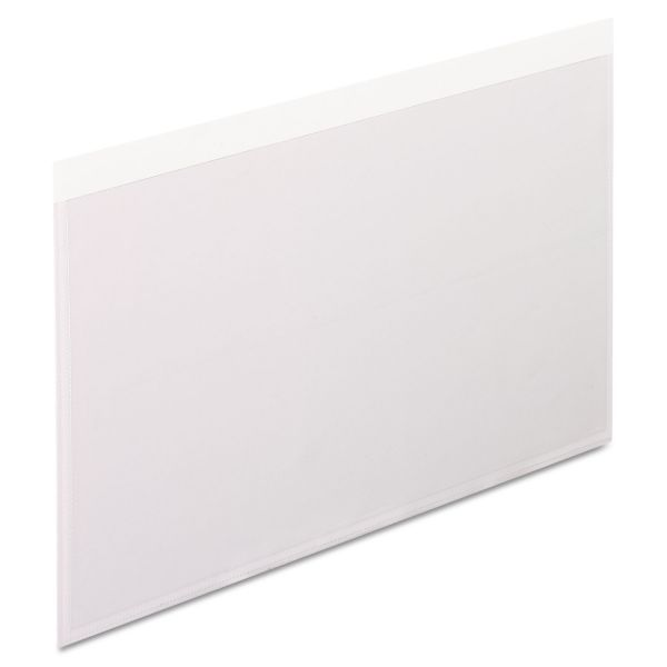 Pendaflex Self-Adhesive Pockets, 5 x 8, Clear Front/White Backing, 100/Box