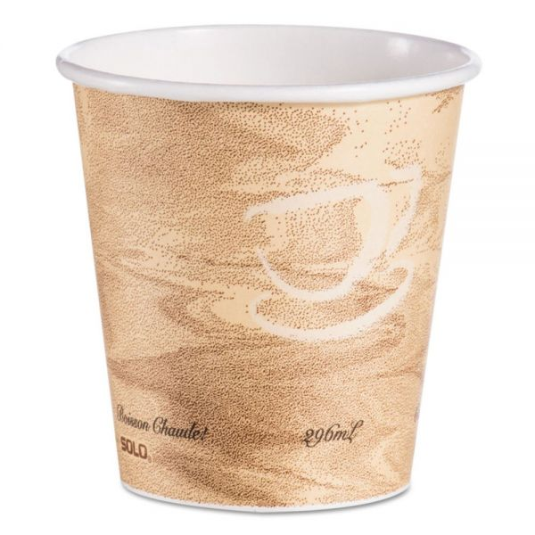 Dart Mistique Hot Paper Cups, 10 oz, Brown, 1000/Carton